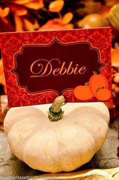 Elegant Thanksgiving Dinner Name Cards