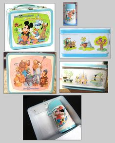Disney lunch box with thermos, 1970s I had this in first grade!
