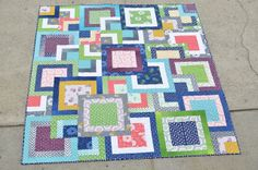 Simply Style Stacked Squares QuiltTutorial on the Moda Bake Shop. http://www.modabakeshop.com