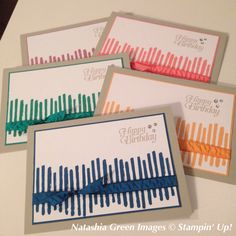 Playful Backgrounds - Stampin' Up!maybe use with gorgeous grunge Masculine Birthday Cards, Birthday Cards For Men, Birthday Greeting Cards, Hand Made Greeting Cards, Greeting Cards Handmade, Stampin Up Catalog, Stamping Up Cards, Scrapbook Cards, Scrapbooking