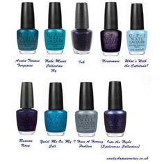 OPI Blue Nail Polish Shades!
