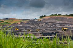 open pit coal mine in Kalimantan Indonesia