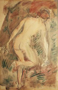Csinszka's nude back, 1923