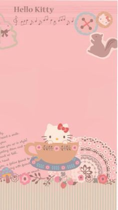 Image in Hello kitty collection by ป่านแก้ว on We Heart It Hello Kitty Iphone Wallpaper, Sanrio Wallpaper, Framed Wallpaper, Iphone 6 Wallpaper, Melody Hello Kitty, Sanrio Hello Kitty, My Melody, Hello Kitty Pictures, Hello Kitty Collection