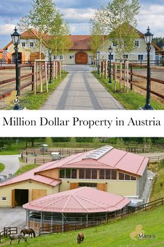 This property in Austria has a mare barn, stud barn, guest apartments, a hot walker, pastures, and so much more!