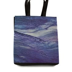 Shopping Tote Bag Marble Purple Storage Travel by DesignsBySiena Etsy Marble, Reusable Tote Bags, Trending Outfits, Storage, Unique Jewelry, Handmade Gifts, Travel, Shopping, Vintage