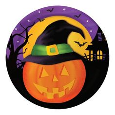 Creative Converting 8 Count Pumpkin Haunts Paper Dessert Plates >>> Details can be found by clicking on the image. (This is an affiliate link)