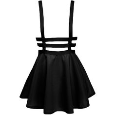Yonala Women's Pleated Short Braces Suspender Skirt ($13) ❤ liked on Polyvore featuring skirts, mini skirts, bottoms, dresses, short mini skirts, short pleated skirt, pleated mini skirt, pleated skirt and short skirts