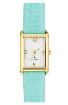 Gorg! mint + gold watch by Kate Spade