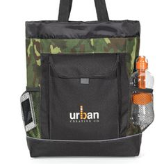 e104584bf95d This tote bag easily converts into a backpack. Camo Backpack