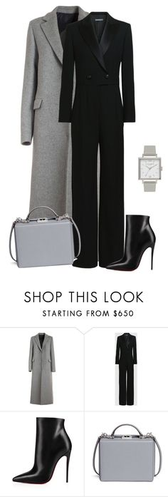"""outfit 6985"" by natalyag ❤ liked on Polyvore featuring MSGM, Christian Louboutin, Mark Cross and Olivia Burton"