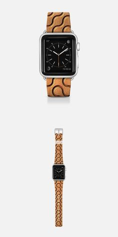 Squiggles with Wood Grain - Apple Watch band design by Lyle Hatch at my #Casetify shop!