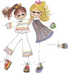 Láminas Infantiles y para Adolescentes (pág. 137)   Aprender manualidades es facilisimo.com Cute Cartoon Drawings, Doodle Drawings, Easy Drawings, Doodle Art, Doodle Kids, Gifs Disney, Stick Figure Drawing, Drawing Lessons For Kids, Family Drawing