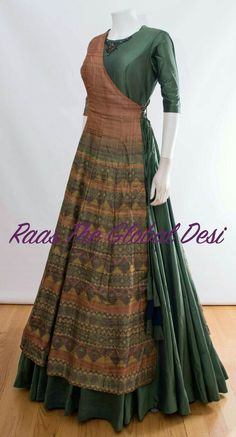 indian clothing ONLINE USA Silk brocade top with golden embroidery with matching bottom and dupatta Long Gown Dress, Saree Dress, Anarkali Gown, Indian Designer Outfits, Indian Outfits, Stylish Dresses, Fashion Dresses, Long Dress Design, Indian Clothes Online