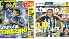 Alianza Lima en las portadas de los diarios deportivos del país