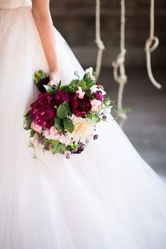 Gorgeous berry, pink, and green bouquet