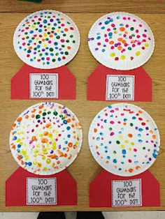 Paper plate gumball machines made with dot paint. Great reinforcer with articulation groups