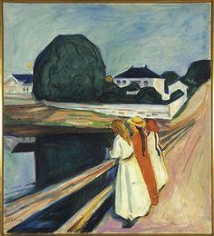 Edvard Munch, Norwegian painter. Pikene på broen [Les Jeunes Filles sur le pont], 1927
