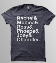 FRIENDS Rachel Green Monica Geller Ross Geller by YellowDogTees