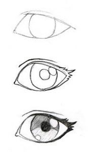 learn how draw manga eyes