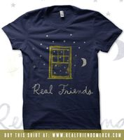 Real Friends Official Online Merch Store - Navy Blue Window T-shirt