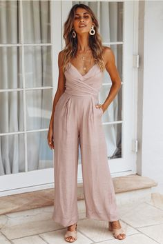 Right From The Start Jumpsuit Mocha