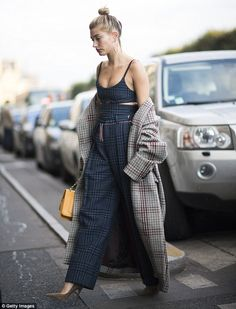 Fashion forward:Taking a breather between shows, Hailey Baldwin displayed her enviable street style on Sunday in the fashion capital