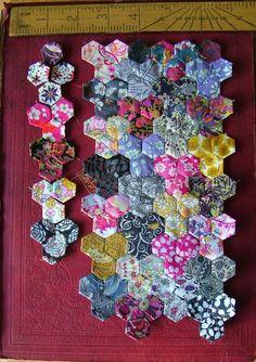 Blue Moth. Blocks of 3 hexagons