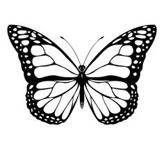 Monarch Butterfly Tattoo, Butterfly Outline, Butterfly Template, Printable Butterfly, Crown Template, Butterfly Mobile, Heart Template, Flower Template, Butterfly Tattoos