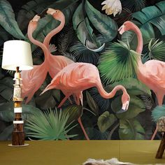 Quality Custom photo wallpaper stereo hand painted Flamingo wallpaper restaurant children room zoo lounge wallpaper papel de parede with free worldwide shipping on AliExpress Mobile Cheap Wallpaper, Custom Wallpaper, Photo Wallpaper, Of Wallpaper, Designer Wallpaper, Flamingo Wallpaper, Flamingo Art, Bedroom Wallpaper Murals, Painting Wallpaper