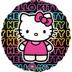 Foil Neon Hello Kitty Balloon 31in