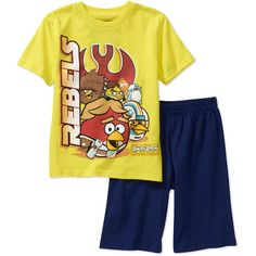Angry Bird Little Girls  Wake Up Angry Bird 2 Piece Pajama Set