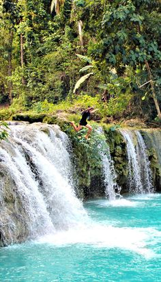 Cambugahay Falls in Siquijor Phillipines! Places To Travel, Places To See, Travel Destinations, Kawasan Falls, Mindanao, Philippines Travel, Beautiful Waterfalls, Travel Around, Dream Vacations