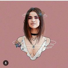 I love you... Selena Gomez Tumblr, Selena Gomez Drawing, Selena Gomez With Fans, Girly Drawings, Cartoon Drawings, Girl Cartoon, Cartoon Art, Tumblr Girl Drawing, Selena Gomez Wallpaper