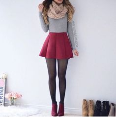56 Ideas skirt outfits for winter sweaters crop tops Teen Fashion Outfits, Girly Outfits, Skirt Outfits, Cute Fashion, Outfits For Teens, Skirt Fashion, Casual Outfits, Fashion Photo, Teenager Fashion