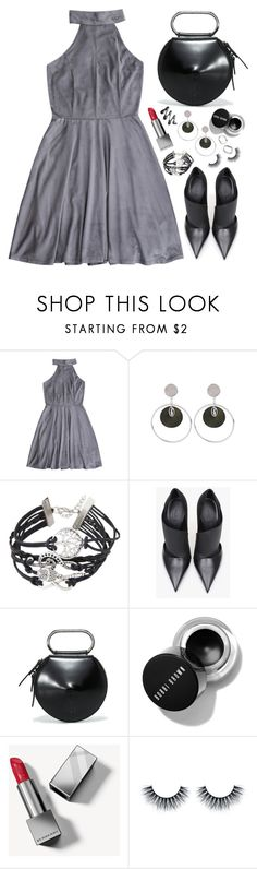 """My Style"" by simona-altobelli ❤ liked on Polyvore featuring Balmain, 3.1 Phillip Lim, Burberry, fab, dress, gray, minidress and MyPowerLook"