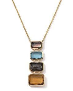 Y27D6 Ippolita 18k Gold Rock Candy Gelato Multi-Stone Necklace