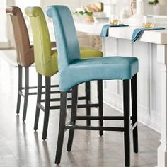 Fully Assembled & Ready to Use: Our sleek Valencia Bar & Counter Stools offer chair-like comfort and pure Grandin value. A clever combination of parsons chair and bar stool, this innovative design adds elegance to any decor. Metal Chairs, Bar Chairs, Dining Chairs, Desk Chairs, Eames Chairs, Dining Room, Island Chairs, Painted Chairs, Office Chairs