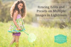 Syncing Edits on Multiple Images in Lightroom