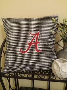 Alabama Football Inspired Machine Embroidered Pillow Cover