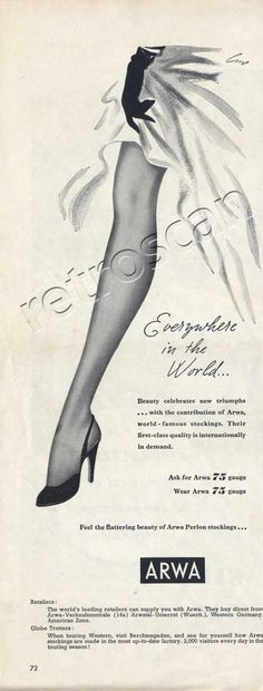 1954 Arwa Nylon Stocking