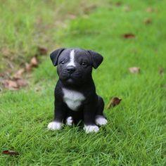 Hi-Line Gift Ltd. Staffordshire Pit bull Puppy Statue - 87771-08 #pitbull