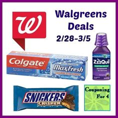 Walgreens Matchups & Deals 2/28-3/5 (Free Zzzquil & More!) http://www.couponingfor4.net/walgreens-matchups-deals-228-35-free-zzzquil-more/