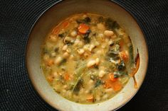 30-Minute Tuscan White Bean Soup. JJ Virgin diet friendly.   ** edit: 1/12/16. Cannot locate original recipe. Here is a copy of many of her recipes.  http://www.vitalchoice.com/shop/pc/catalog/pdfs/TheVirginDiet-CommunityCookbook.pdf