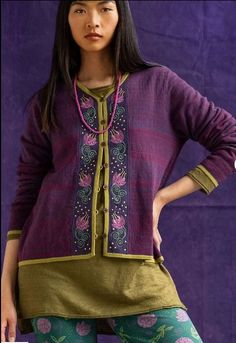 Folk Fashion, Fashion Art, Fashion Ideas, Casual Chic, Boho Outfits, Fashion Outfits, Gudrun, Long Wool Coat, Couture