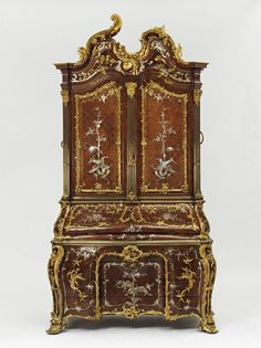 Writing cabinet made for Augustus III, King of Poland and Elector of Saxony (detail), probably by Michael Kimmel, 1750-55, Dresden.