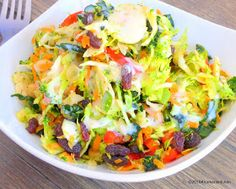 Klunker's Plant-Based Kitchen: Klunker's powerhouse salad with creamy sweet lemon dressing