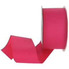 """This solid color Matte Finish Grosgrain Ribbon is perfect for decorating scrapbook pages, greeting cards, invitations, wrapping packages, hair accessories and so much more.The ribbon is made of 100% polyester.    Ribbon Details:      Ribbon Width: 2""""    Color: Hot Pink    Ribbon Type: Grosgrain    Spool Length: 4 Yards"""