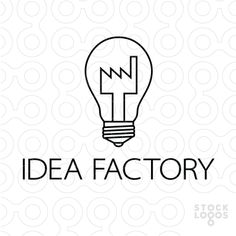 A creative solution for any business with a focus on ideas, creation and invention. This logo feature a light bulb with a stylised factory in place of the bulbs filament. This logo is ideal for inventors, creators, innovators, designers, engineers or specialist manufacturers. Alternatively this logo could also be used for electrical appliance shops, light bulb suppliers, light bulb manufacturers, home appliance and electric suppliers.