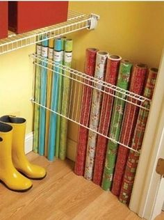 Wrapping paper organization idea